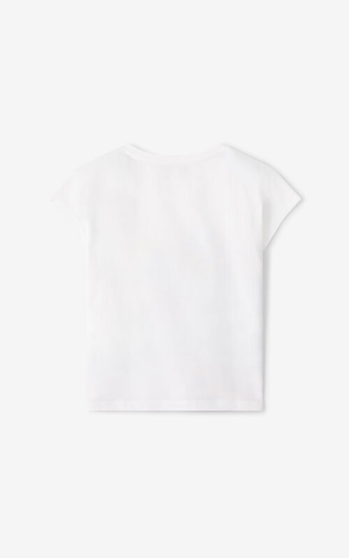 WHITE KENZO Paris 'Ventura' T-shirt for unisex