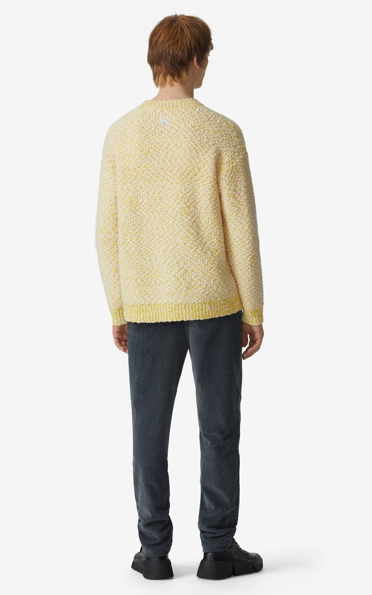 LEMON Slub knit jumper for men KENZO