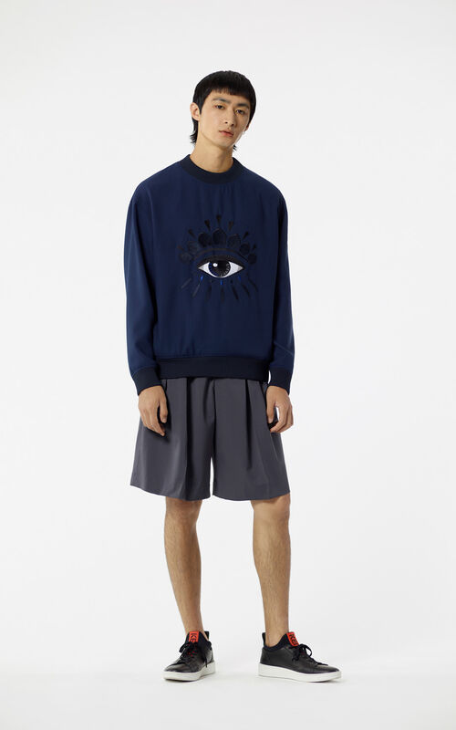 NAVY BLUE Eye Sweatshirt for men KENZO