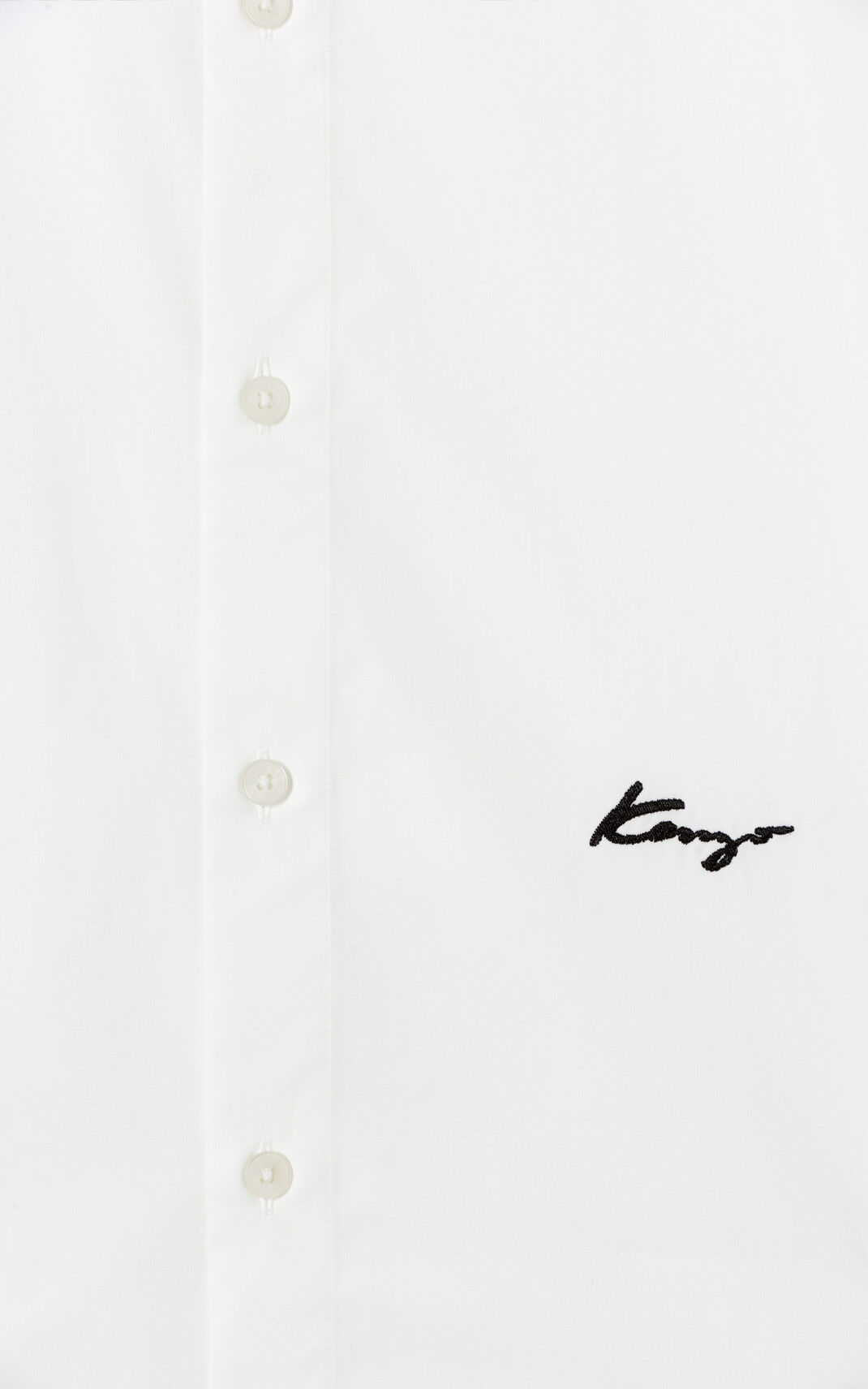 WHITE KENZO Signature slim-fit shirt for men