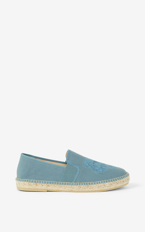 GLACIER Tiger stretch canvas espadrilles KENZO