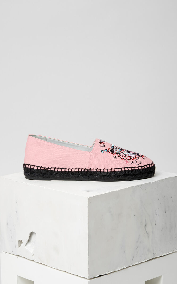 FADED PINK 'Tiger x I Love You' Espadrilles for women KENZO