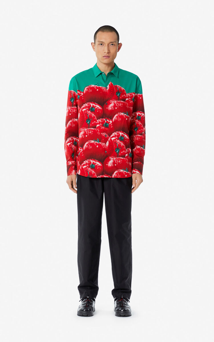 MEDIUM RED 'Tomato' overshirt for women KENZO