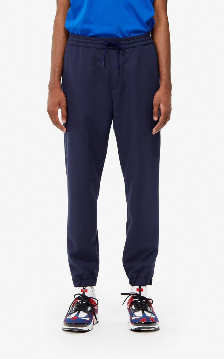 MIDNIGHT BLUE Zipped jogging bottoms for men KENZO