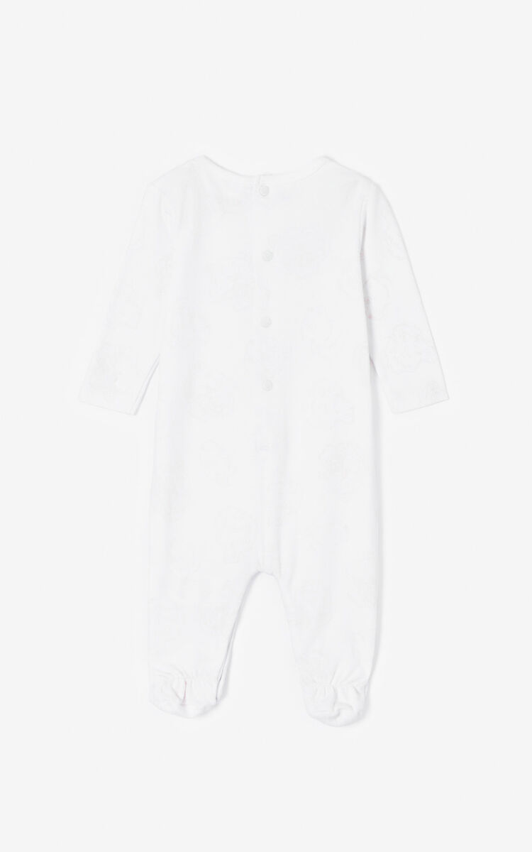 WHITE Set of two 'Tiger Friends' sleepsuits for women KENZO
