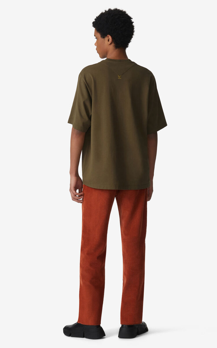 KHAKI 'Chevaux KENZO' T-shirt for men