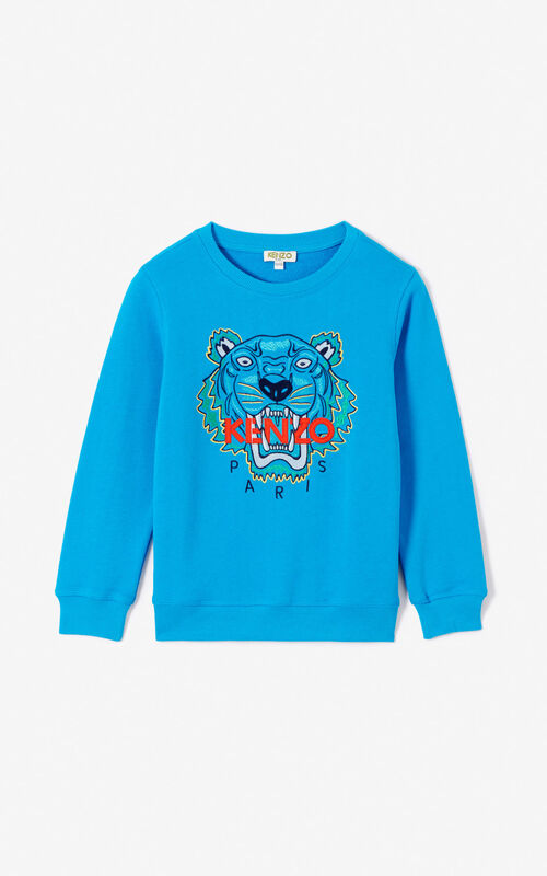 DEEP SEA BLUE Tiger sweatshirt KENZO