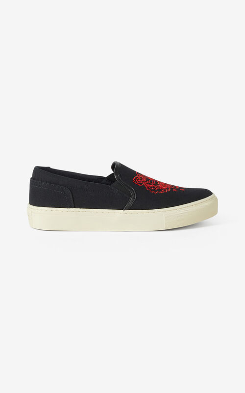 BLACK  K-Skate Tiger laceless trainers for unisex KENZO