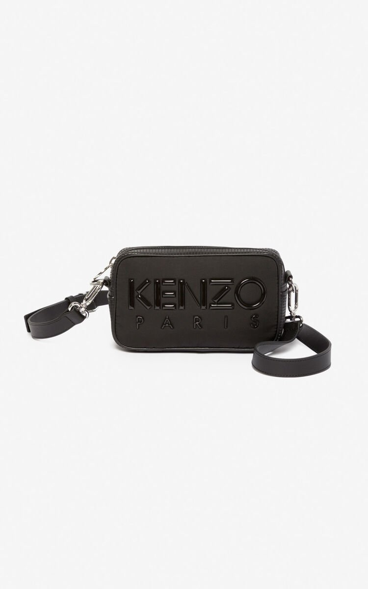 BLACK Kombo camera bag for unisex KENZO