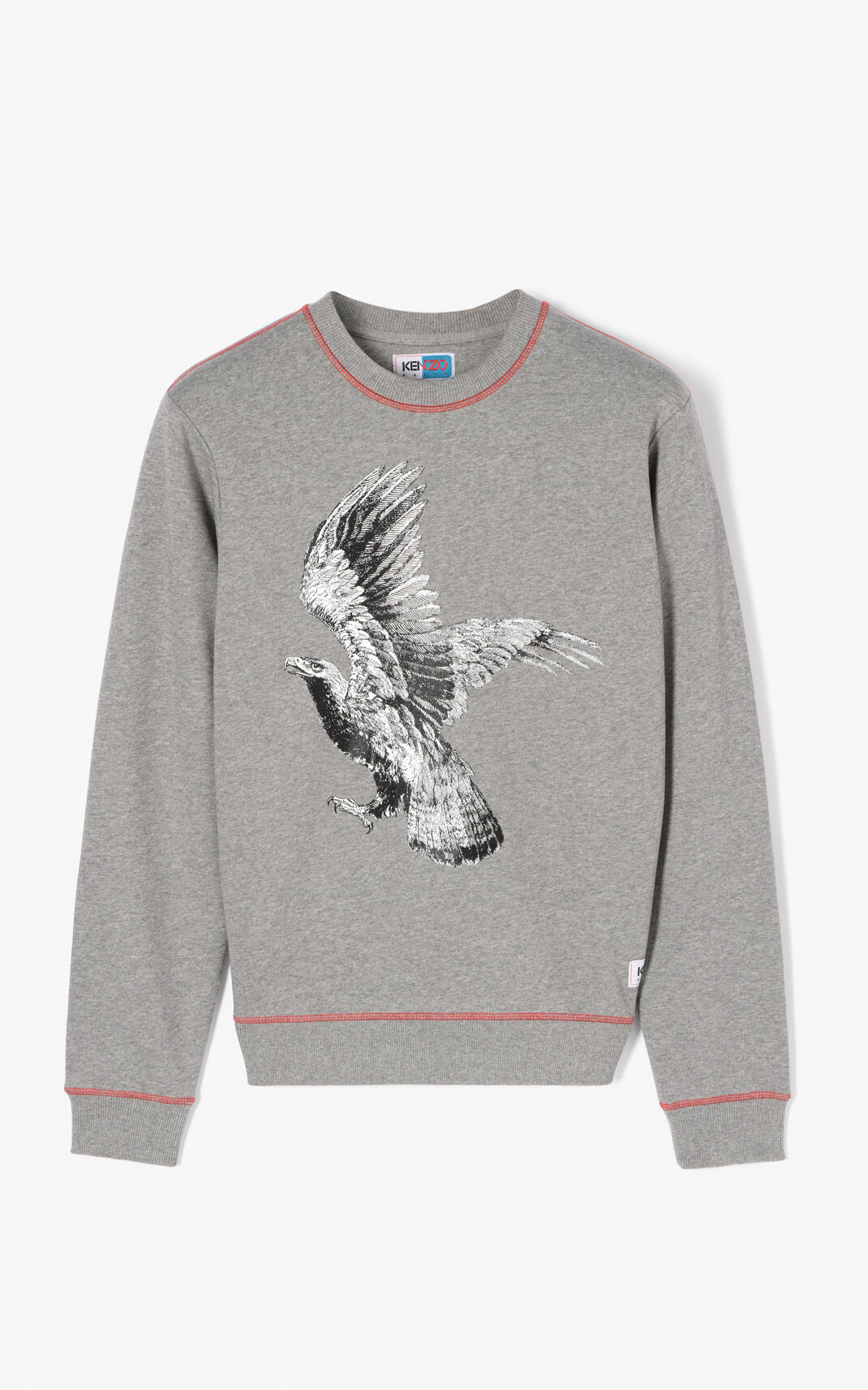 DOVE GREY 'Eagle' sweatshirt for men KENZO