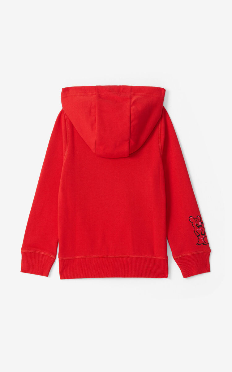 MEDIUM RED Tiger sweatshirt for women KENZO