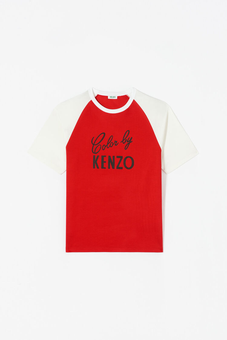MEDIUM RED 'Color by KENZO' t-shirt for women