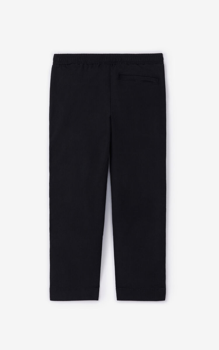 BLACK KENZO Paris 'Vegas' trousers for men