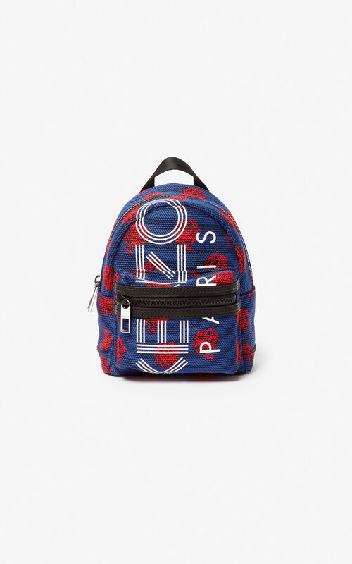 COBALT Mini KENZO Logo 'Roses' backpack for men