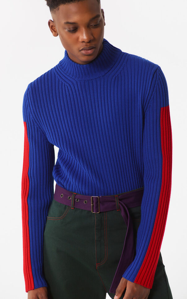 DEEP SEA BLUE Long turtleneck for men KENZO