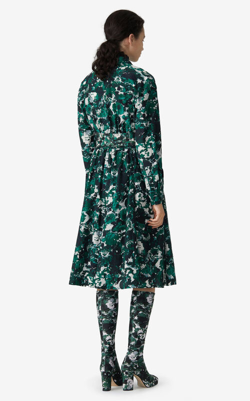 PINE 'Aquarelle' shirt dress for women KENZO
