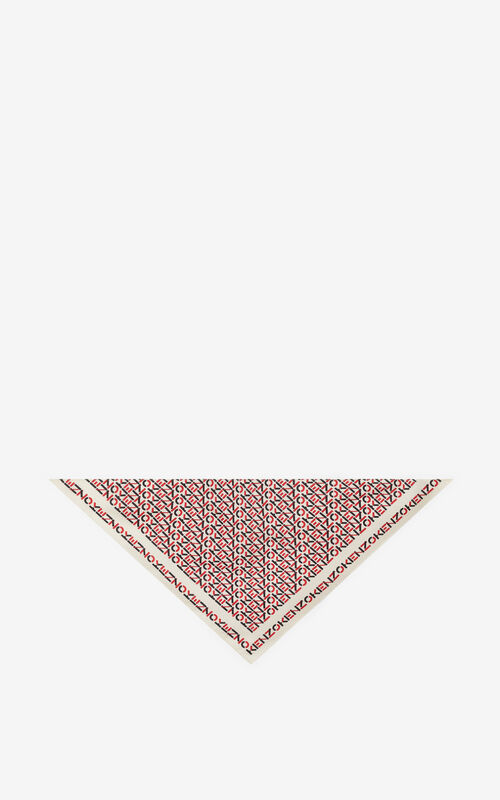 ECRU Silk bandana mask holder for unisex KENZO