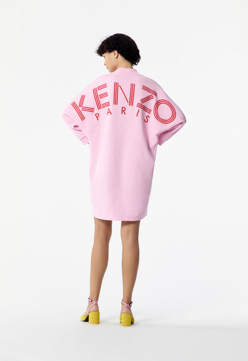 FLAMINGO PINK KENZO Logo dress for women