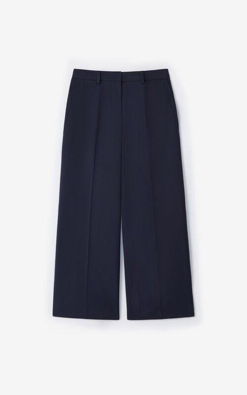 NAVY BLUE Cropped trousers for unisex KENZO