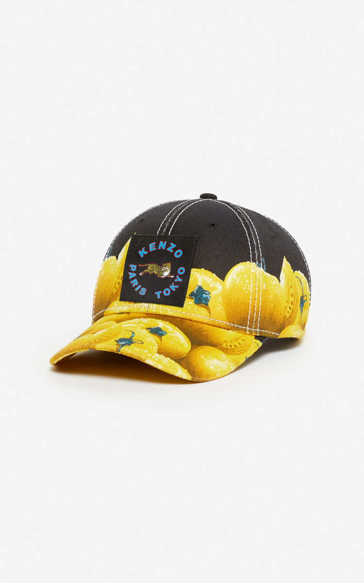 BLACK 'Tomato' baseball cap for women KENZO