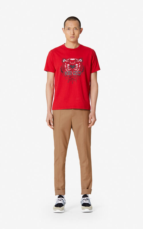 f9640bf4468d ... MEDIUM RED Tiger T-shirt for men KENZO