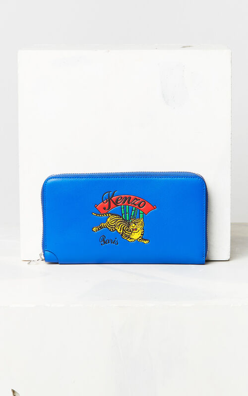 FRENCH BLUE 'Jumping Tiger' Wallet for unisex KENZO