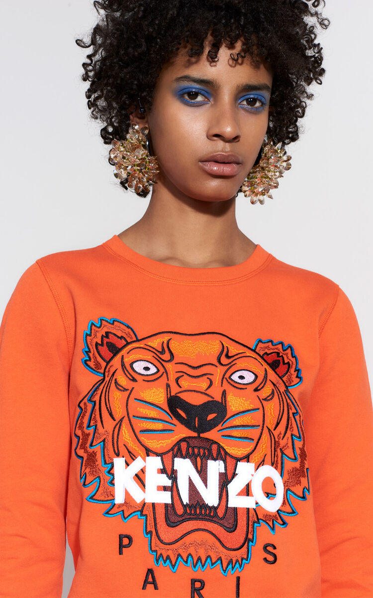 Tiger Sweatshirt, DEEP ORANGE, KENZO