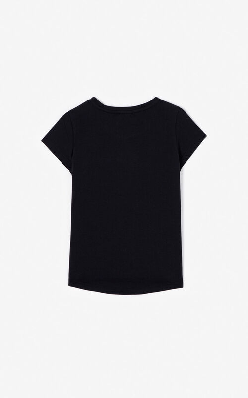 BLACK KENZO logo T-shirt for women