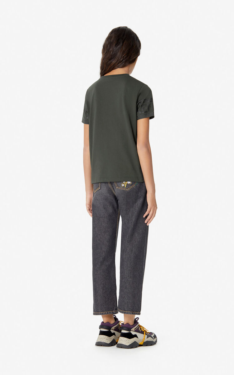 DARK KHAKI KENZO Logo T-shirt for women