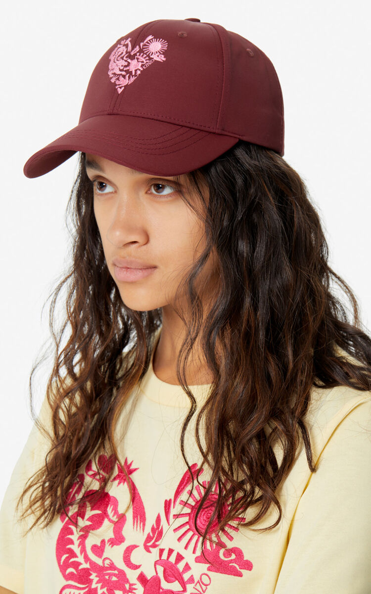 BORDEAUX 'Lucky Star' baseball cap for women KENZO
