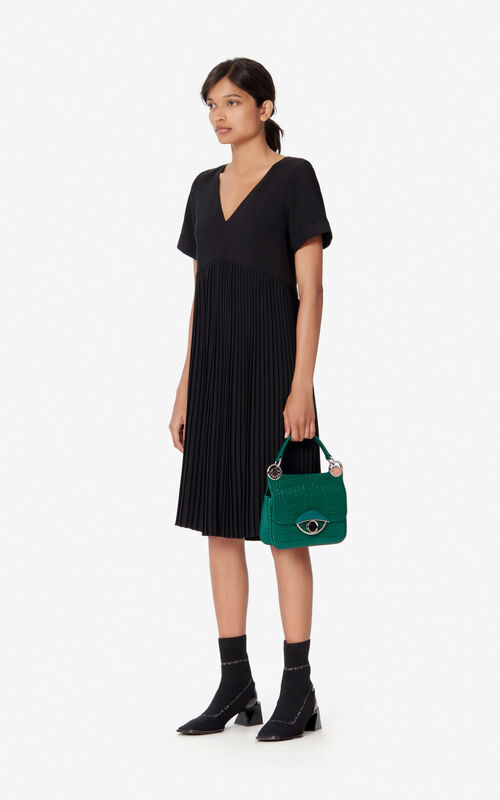 BLACK Pleated dress for women KENZO