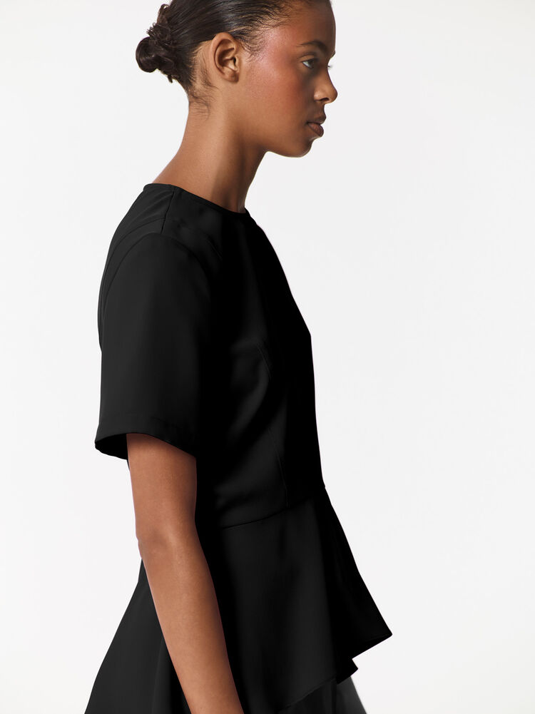 BLACK Peplum Top  for women KENZO