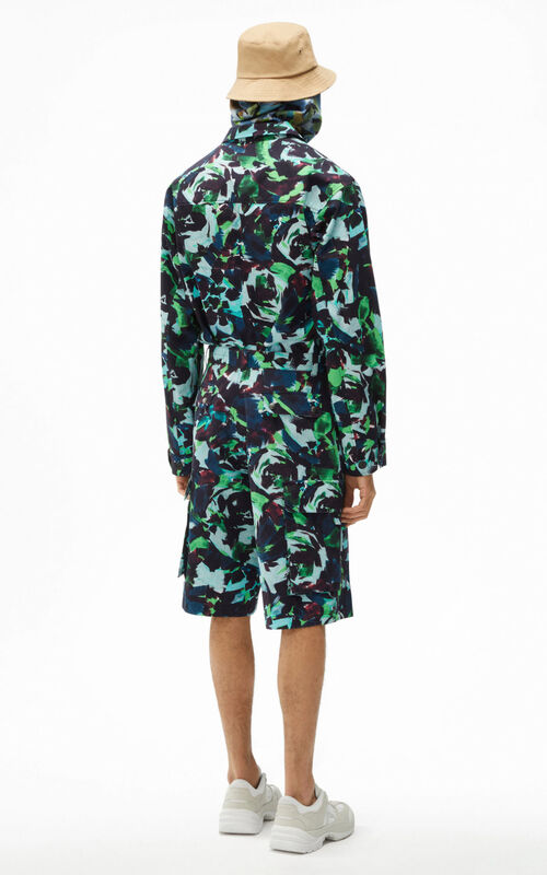 GRASS GREEN 'Archive Floral' cargo shorts for men KENZO