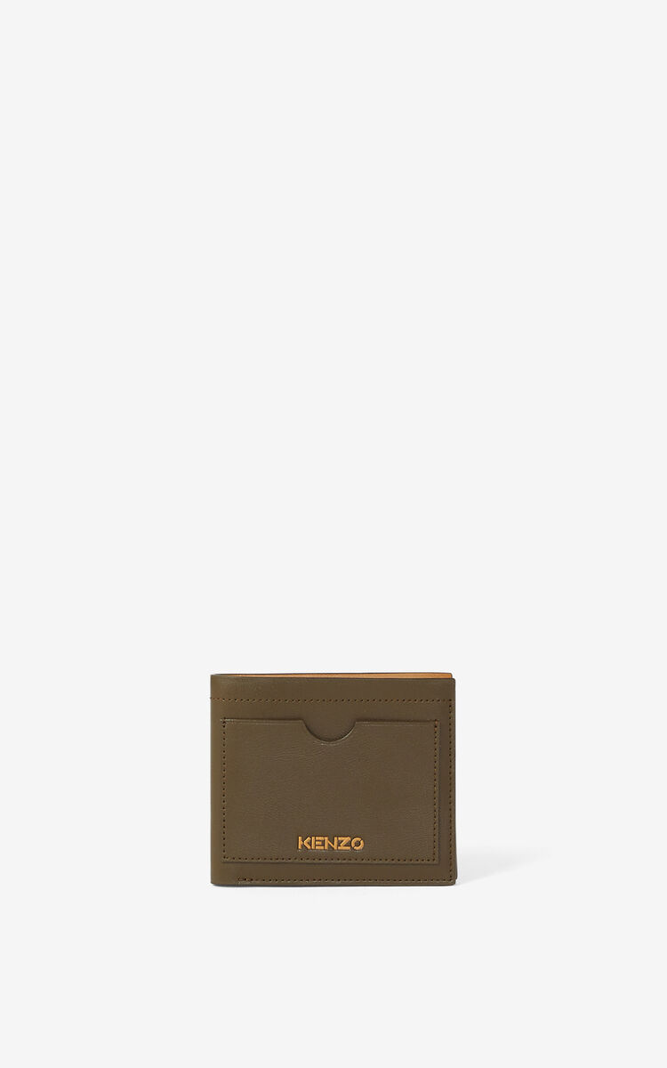 KHAKI KENZO Cadet small leather wallet for women
