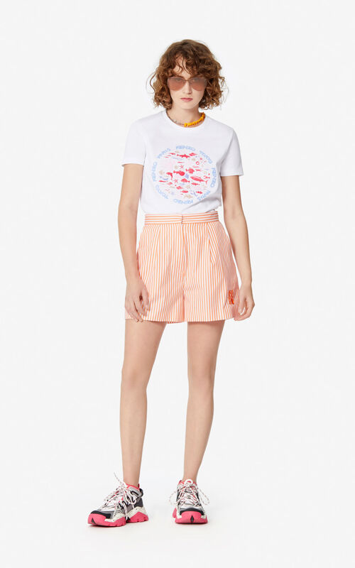 WHITE 'Ocean Club' T-shirt for women KENZO