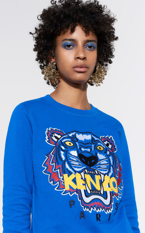 ROYAL BLUE Tiger Sweatshirt for women KENZO