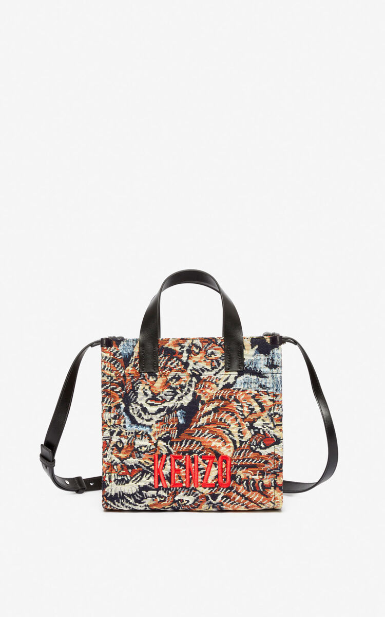 MULTICOLOR Jungle 'Flying Tiger' small tote bag  for unisex KENZO
