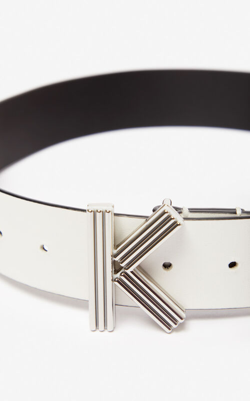 WHITE Wide K-Bag belt KENZO