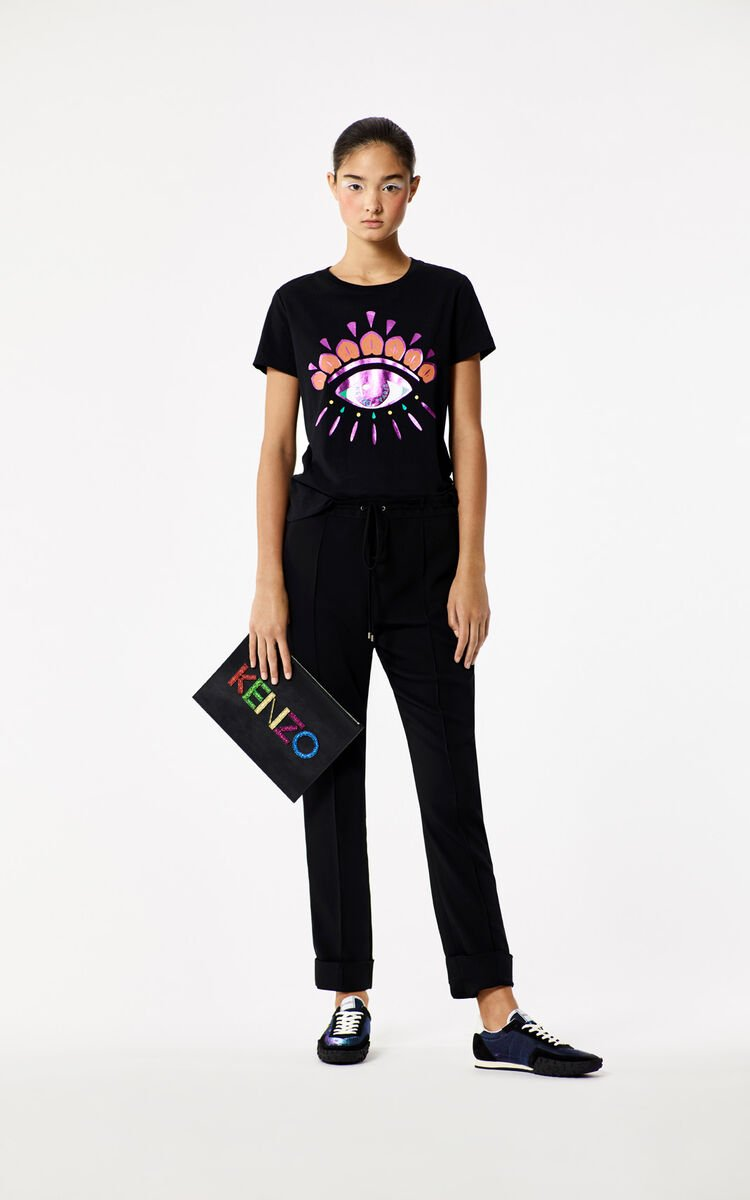 BLACK 'Holiday Capsule Collection' Eye T-shirt for women KENZO