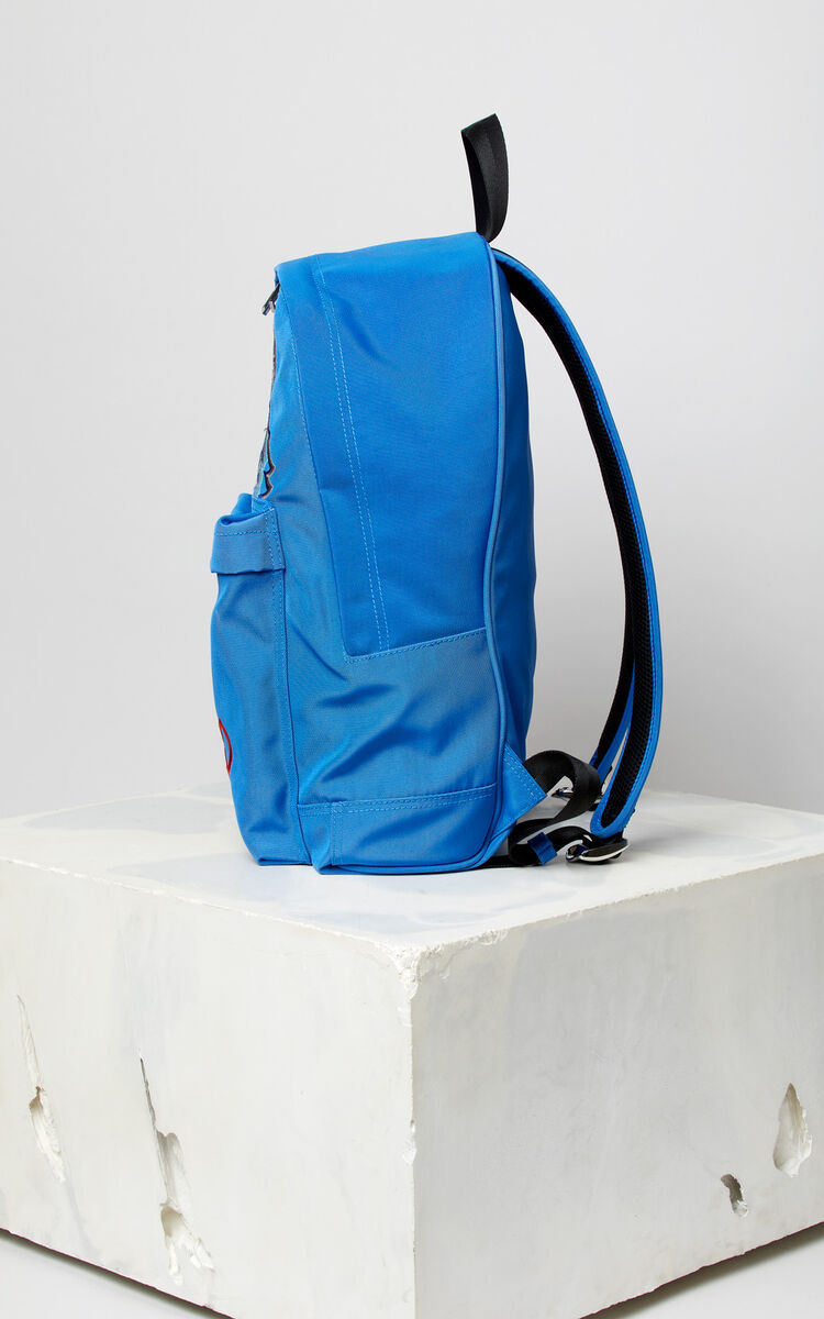 FRENCH BLUE Large Tiger Canvas backpack for women KENZO