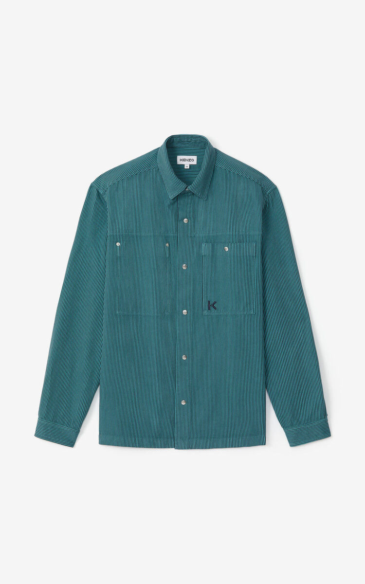 GLACIER Striped overshirt for men KENZO