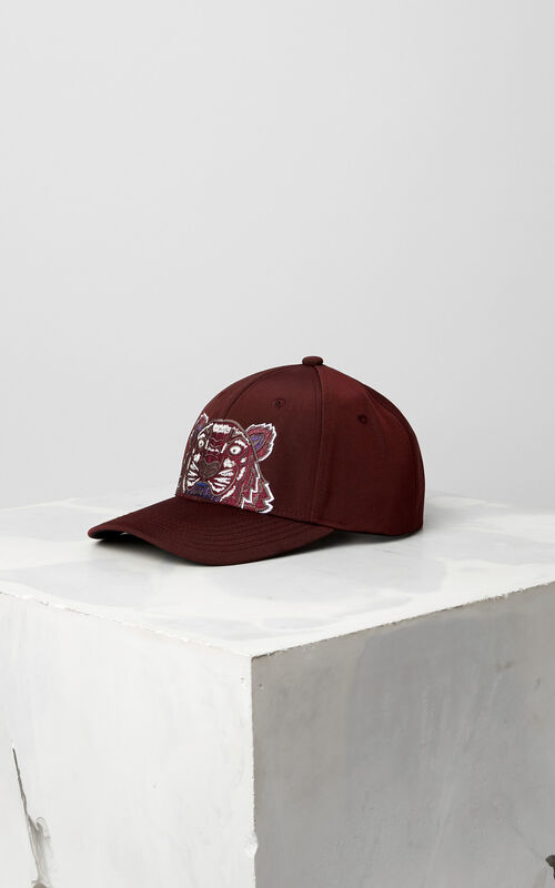 Tiger Canvas Cap, BORDEAUX, KENZO