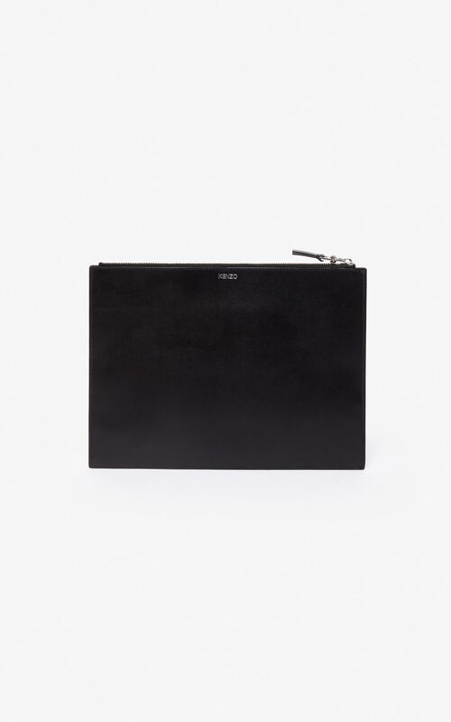 BLACK Kontact Eye A4 clutch for unisex KENZO