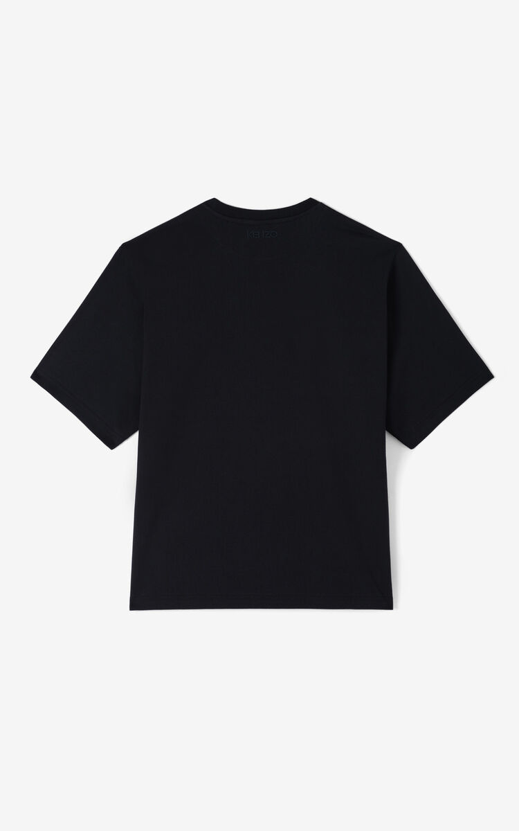BLACK 'Tulipes' t-shirt for men KENZO