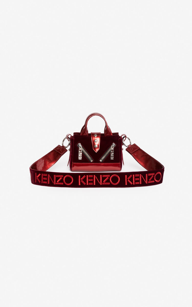 PEONY RED 24 KENZO Logo shoulder strap 'Holiday Capsule' for women