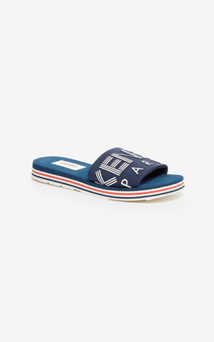 MIDNIGHT BLUE Papaya mules for women KENZO