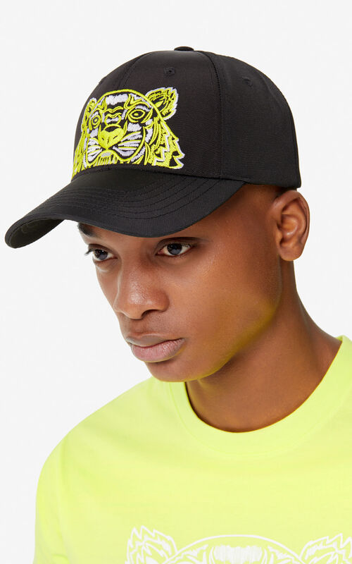 BLACK Tiger baseball cap 'High Summer Capsule collection' for men KENZO