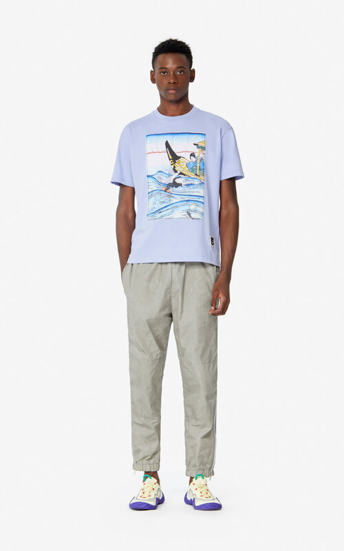 LAVENDER 'Ama Diver' T-shirt for men KENZO