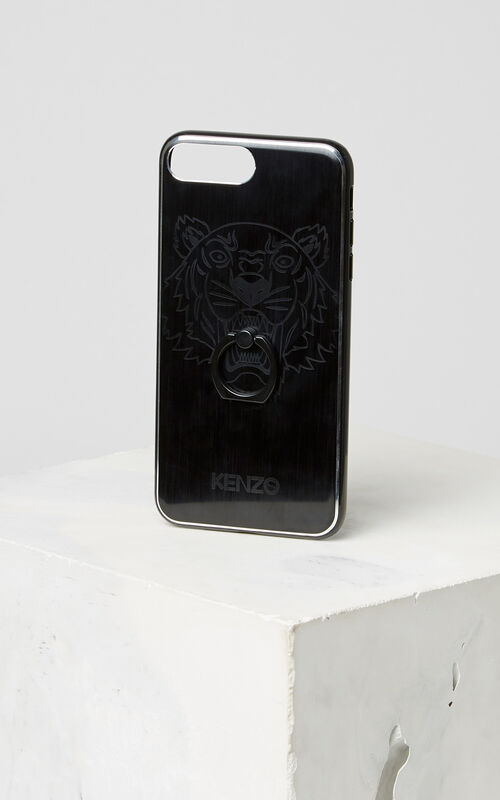BLACK Tiger iPhone 7+/8+ case with ring for unisex KENZO