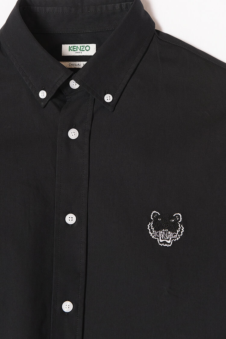 BLACK Tiger Crest Shirt for women KENZO